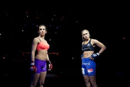 Miesha Tate vs Ronda Rousey Promos See more at RondaRousey.net #armbarnation