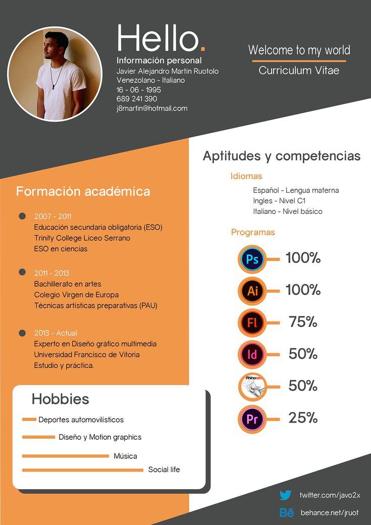 Curriculum Vitae - Welcome to my world on Behance