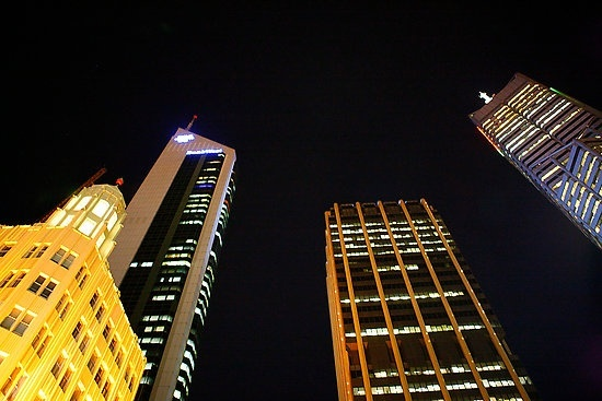 An interesting perspective - Perth by night