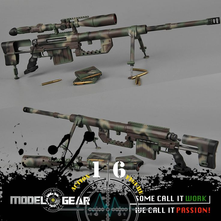 (31.79$)  Buy here  - 1/6 Scale ZYTOYS ZY TOYS ZY15-13 CheyTac Intervention M200 Sniper Rifle Camouflage Suitable for 12'' Action Figure Model Toy
