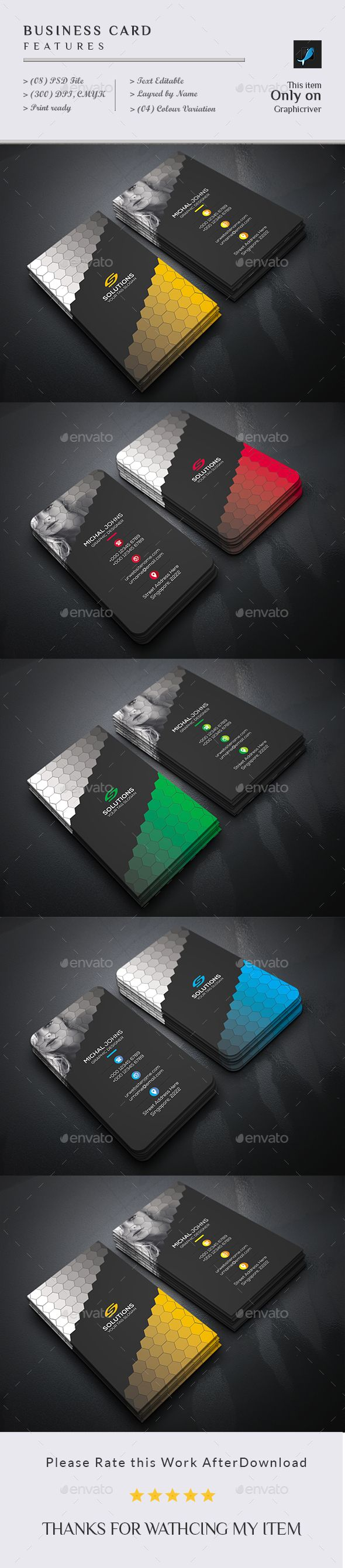 #Business Card - Business #Cards Print Templates Download here: https://graphicriver.net/item/business-card/18709747?ref=alena994