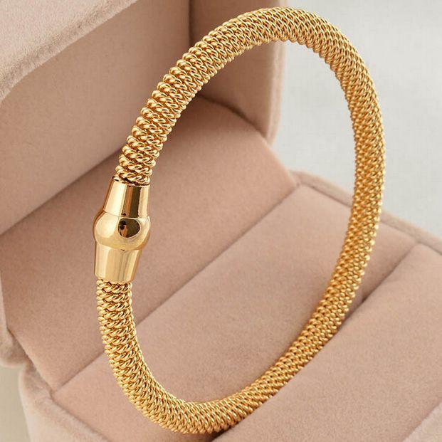Aliexpress.com: Comprar Alta calidad de cinco colores cable de acero inoxidable pulsera de cadena pulsera brazaletes hombres o mujeres de moldes de pulsera fiable proveedores en NIBA Jewelry