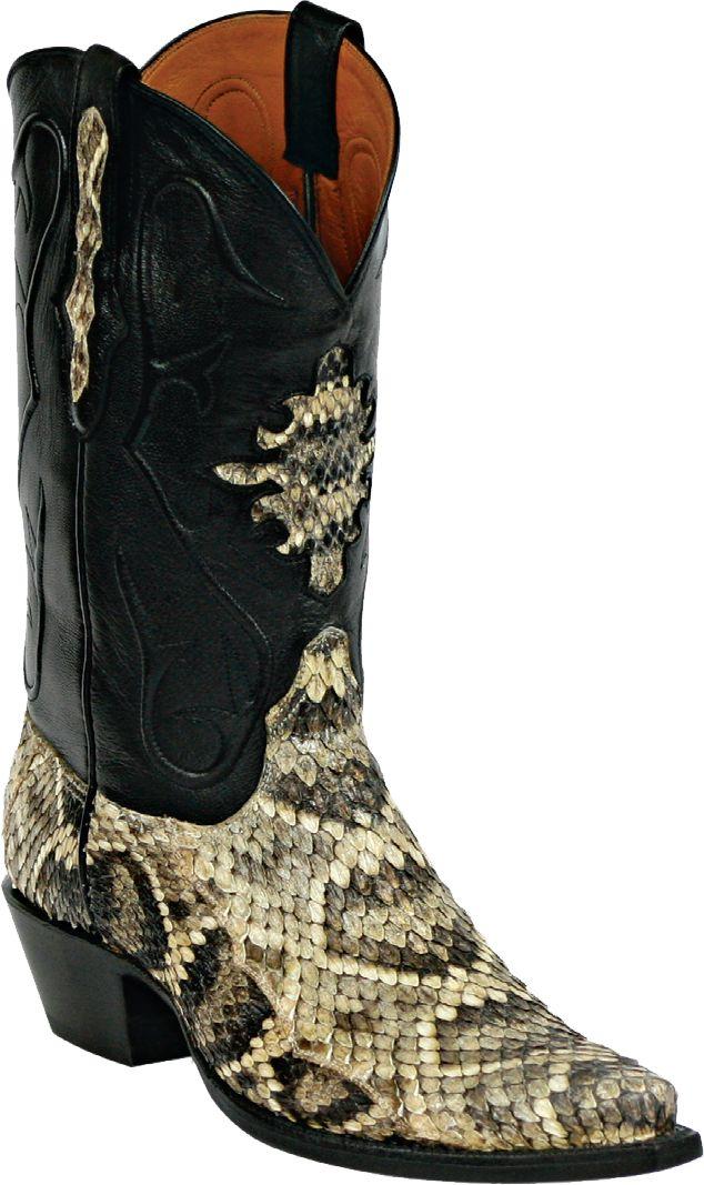 mens black jack boots natural rattlesnake custom boots 610