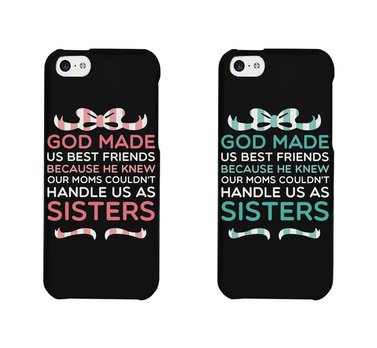 Cute BFF Phone Cases - God Made Us Best Friends Phone Covers for iphone 4, iphone 5, iphone 5C, iphone 6, iphone 6 plus, from Amazon
