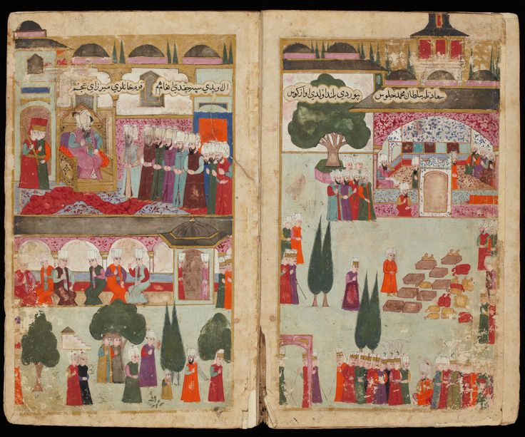 Illustrated Manuscript by Seyyid Lokman on Mehmed III's Campaign in Hungary Turkey, Istanbul; c. 1600 Each leaf: 30.2 × 18.2 cm