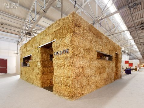Rael San Fratello Architects: Hedge Gallery's straw booth at SF 20/21: San Francisco Art and Design Show and Sale.