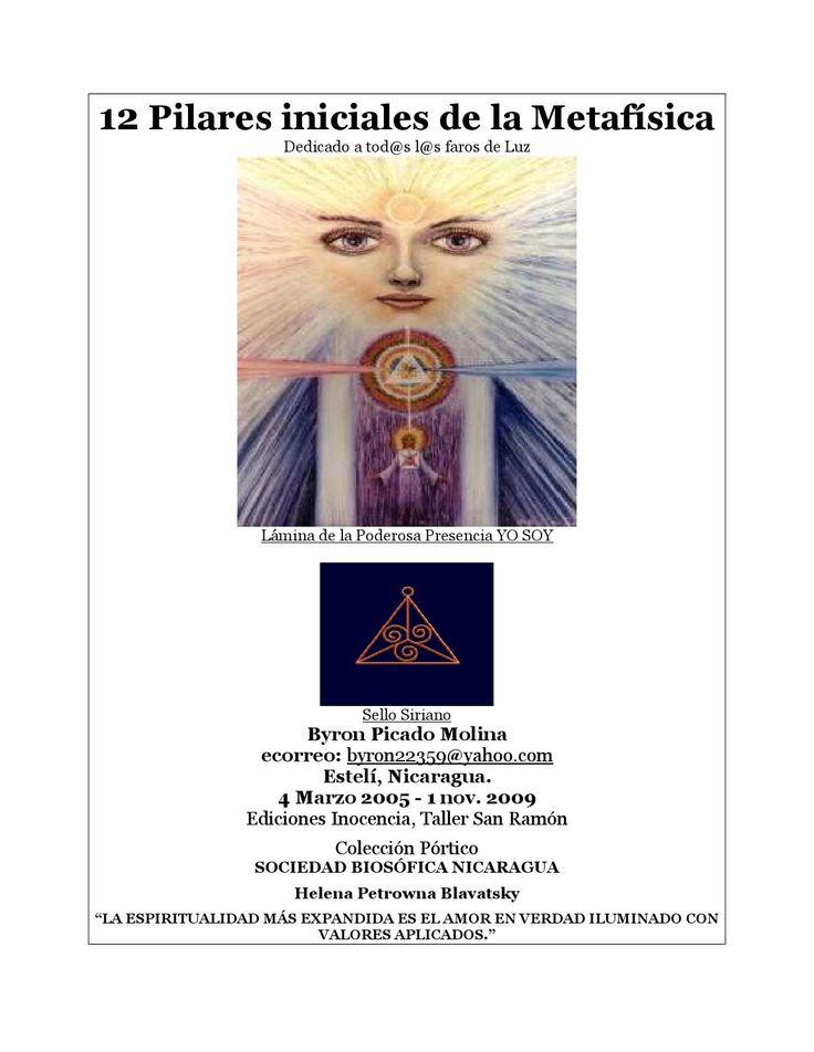 12 pilares inicialesde la metafisica