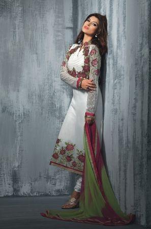 White Color Teazle Collection #Salwar Suit. @http://www.maalpani.com/latest-arrivals.html