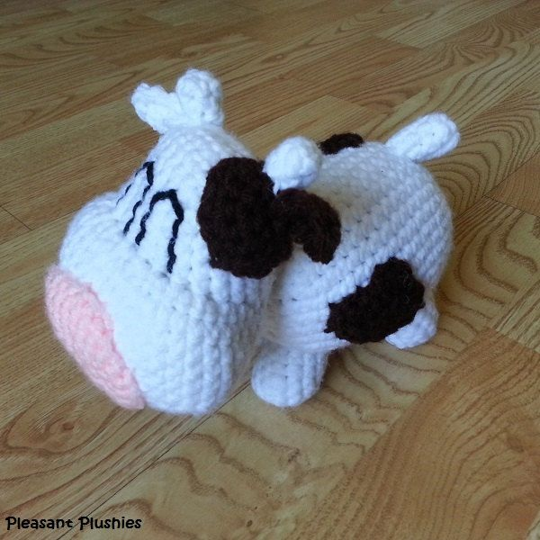 SNES Harvest Moon Inspired Crocheted Cow by PleasantPlushies