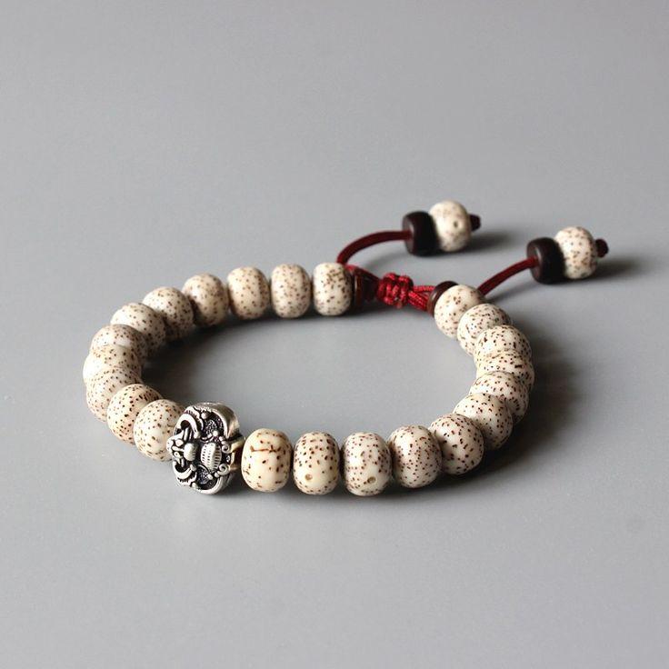 Beaded Bracelets: Tibetan Buddhism Xingyue Bodhi Seed OM Mala Beads