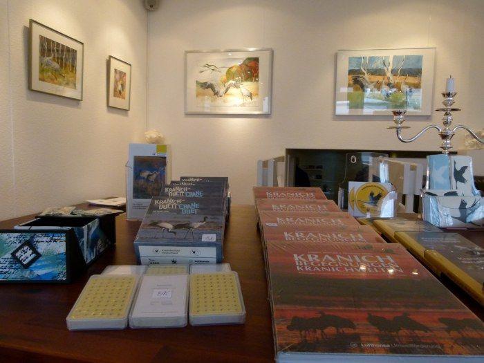 Ausstellung Faszination Kraniche | Kranich Aquarelle in der Galerie FASZINATION ART (c) Frank Koebsch (2)