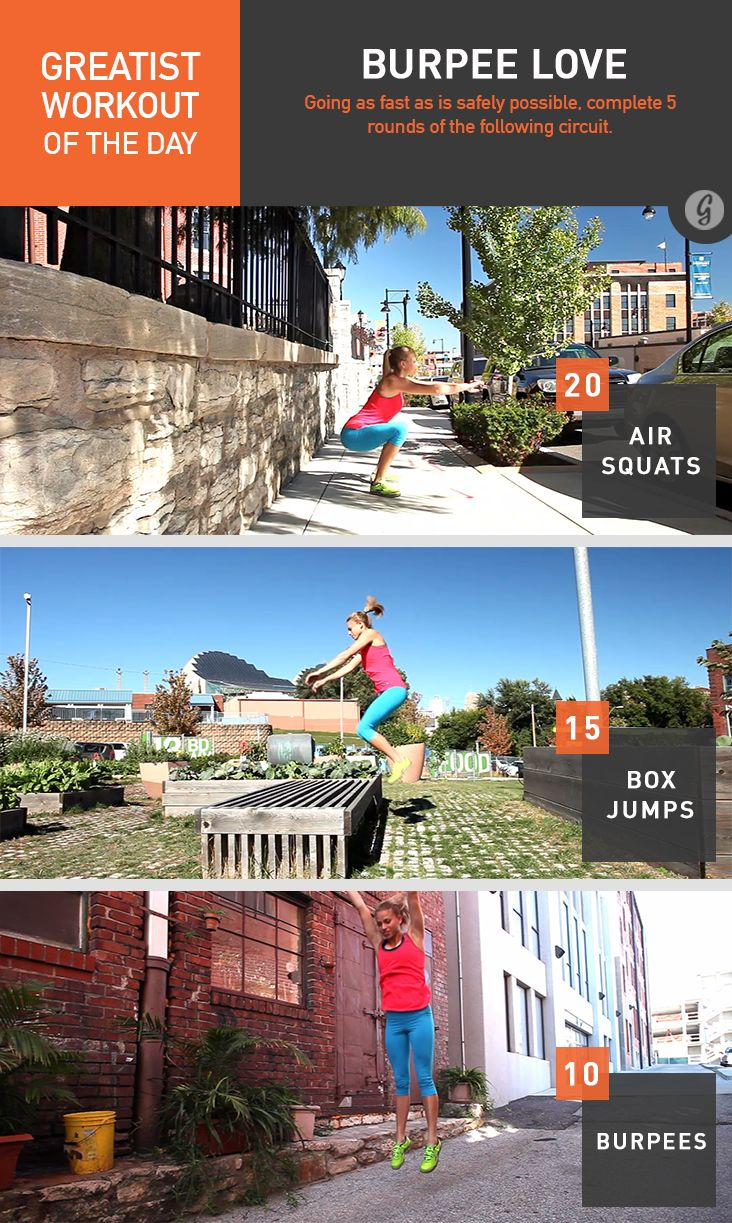 Greatist Workout of the Day: Burpee Love #fitness #bodyweight #workout