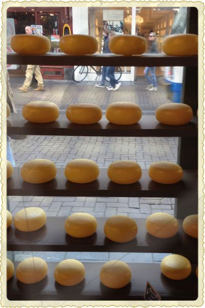 Wax-encased rounds of handmade gouda are displayed like jewels at Henri Willig Cheese and More on the pedestrian shopping street, Leidsestraat, in Amsterdam.Willig Cheese, Glorious Cheese, Food, Cheese You V, Wisconsin Cheese