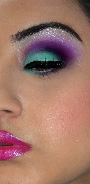 Well done blending. I know it is a little too much makeup, but the colors are beautiful!