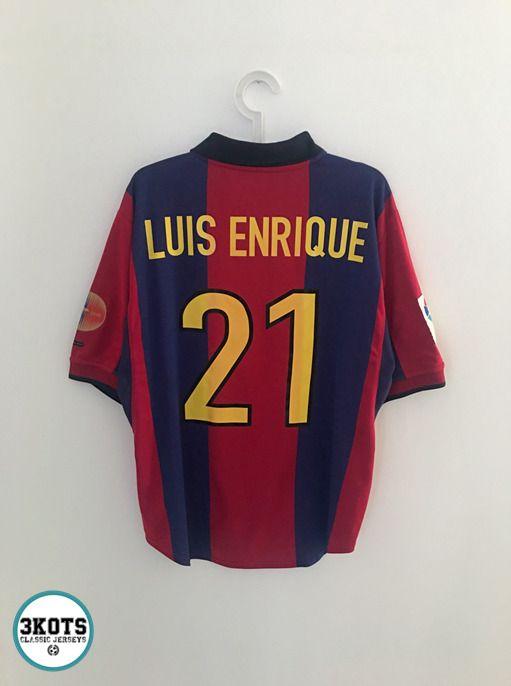 info for 7254d 9a84a eBay #Sponsored LUIS ENRIQUE Barcelona 2000/01 Home Football ...