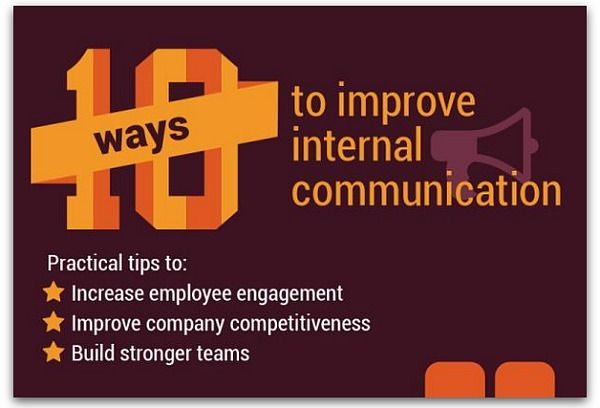 Infographic: 10 ways to improve internal communication | Articles | Main