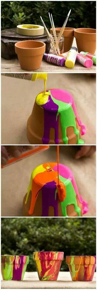 DIY Clay Pots with Abstract Paint - Hans C Reinemer, DMD, PC | #SaltLakeCity | #UT | http://www.reinemerpediatricdentistry.com/