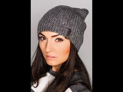 ♥Шапка бини♥Женская шапка+мастер класс+полное описание♥lesson 2.Вязаная шапка бини спицами♥ - YouTube