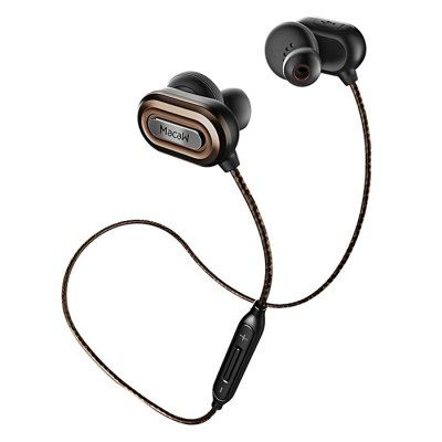 MACAW T1000 (Bluetooth HiFi Sports Headphones Earbuds with Mic Volume Control  - BROWN In-ear Design Anti-sweat Nylon Woven Cable) - Flash Sale Price $15.99 #Bluetooth, #Wireless, #MACAW, #Headphones, #Earphones