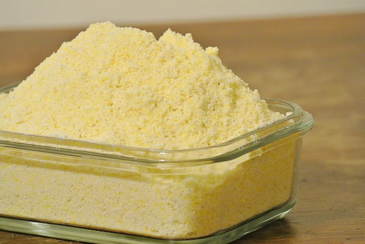 Jiffy Cornbread Mix Clone (Gluten-Free) 2 cups (8oz or 227g) GF Flour, 1 1/2 cup yellow corn meal, 1/2 c plus 1 Tbsp granulated sugar, 3 tablespoons baking powder, 3/4 teaspoons salt, 6 tablespoons vegetable shortening or oil.