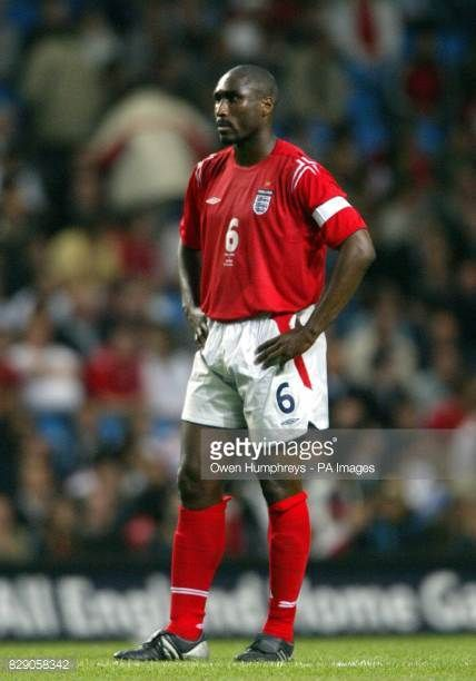 Sol Campbell in action for England against Japan during the International friendly match at the City of Manchester Stadium Manchester THIS PICTURE...