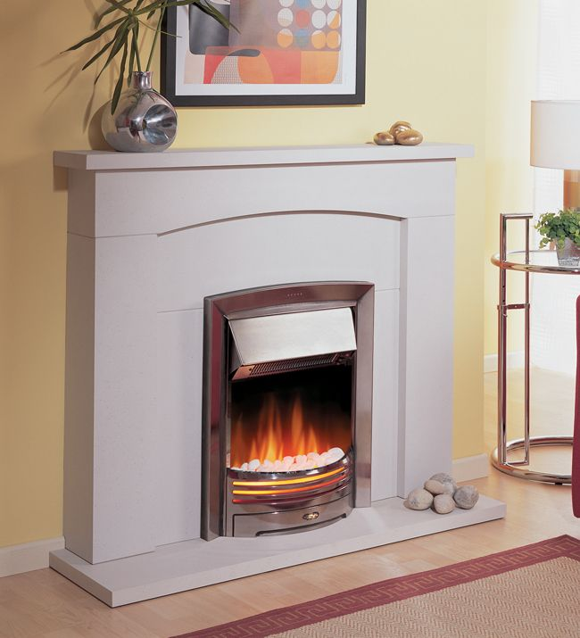 Adagio Chrome Inset Electric Fire, From Dimplex