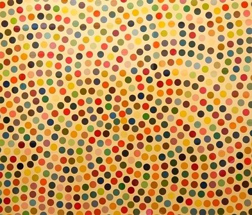 Damien Hirst spot painting Gagosian Paris 2