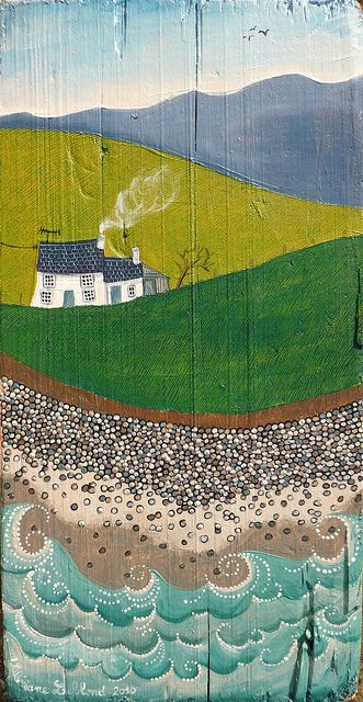 Cerrig llyfnion by Valériane Leblond, via Flickr On a great piece of old wood