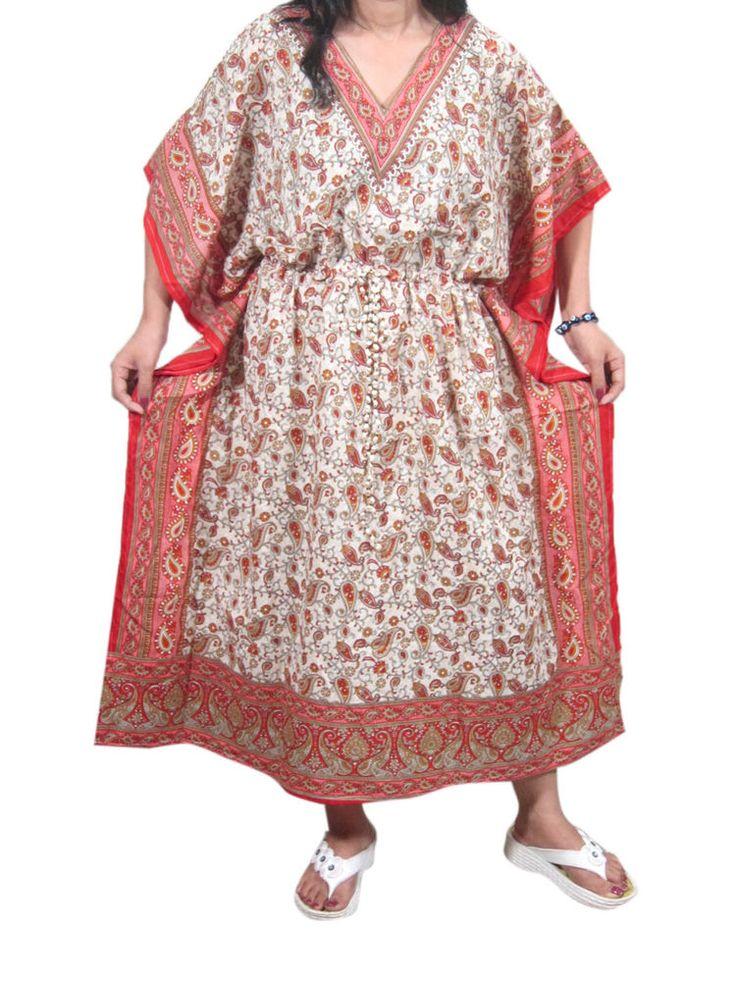 BOHO HIPPY GYPSY CAFTAN DRESS PAISLEY HIPPIE KIMONO MUMMUU HOUSE DRESS XXXL | Clothing, Shoes & Accessories, Women's Clothing, Dresses | eBay!
