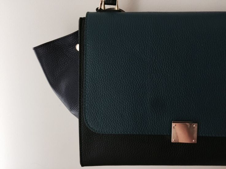 Tricolor leather bag