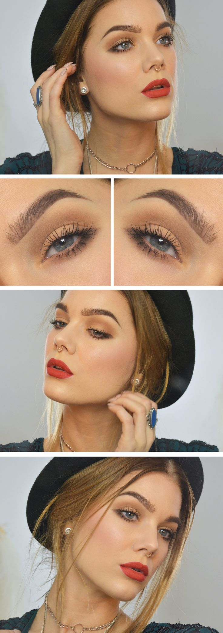 Linda Hallberg everyday makeup get the look using Arbonne Guava Smoothed Over Lipstick