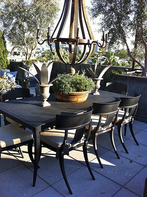 i love this restoration hardware style patio set