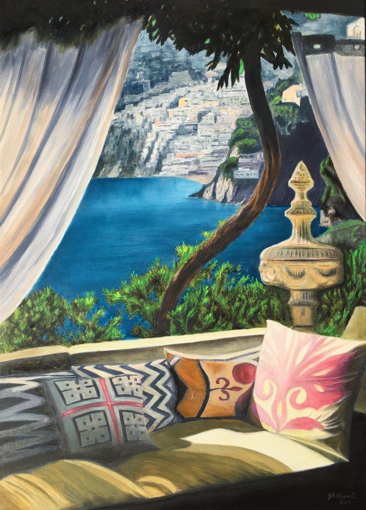Positano (oil on panel, 50x70 cm)
