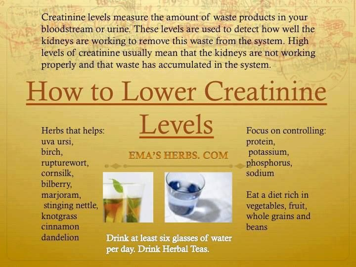 How 2 Lower Creatinine Levels Be Well Pinterest