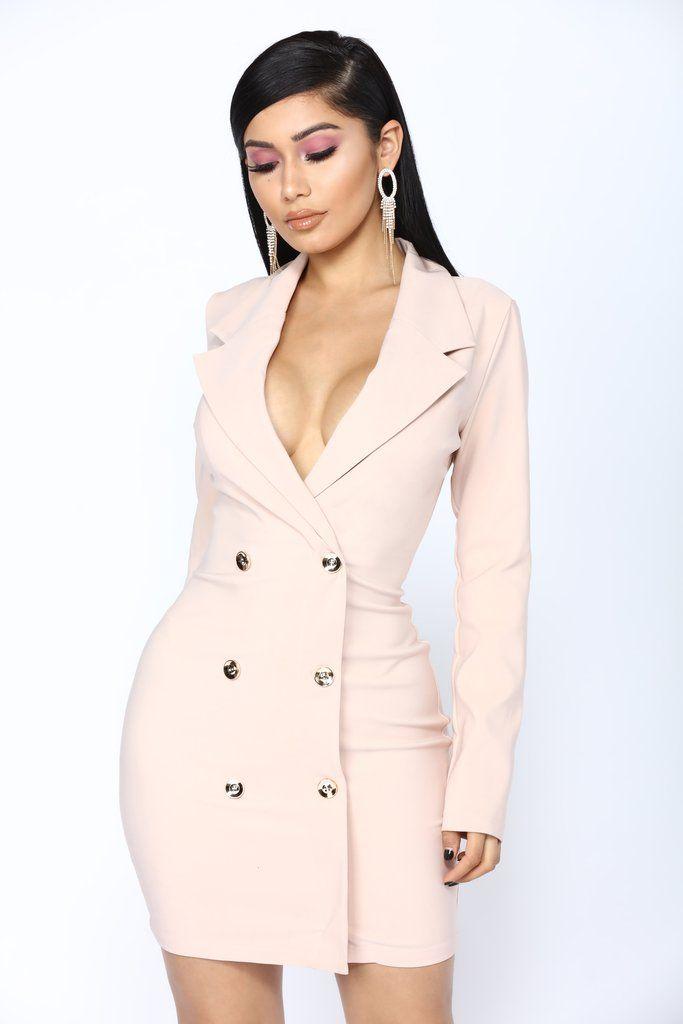 3acdeb69d31c0 Enterprise Blazer Dress - Blush in 2019 | Fashion Nova | Collections ...