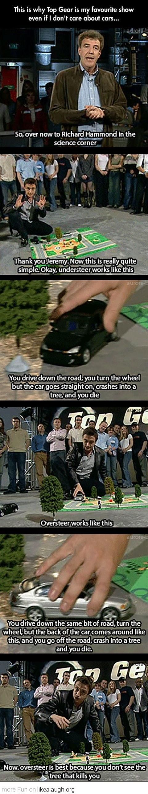 The science corner of Top Gear