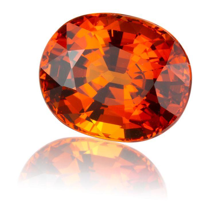 Mandarin Spessartite Garnet Oval - 5.2ct | KING STONE GEMS