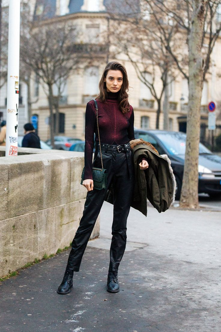 See what the models are wearing off duty!