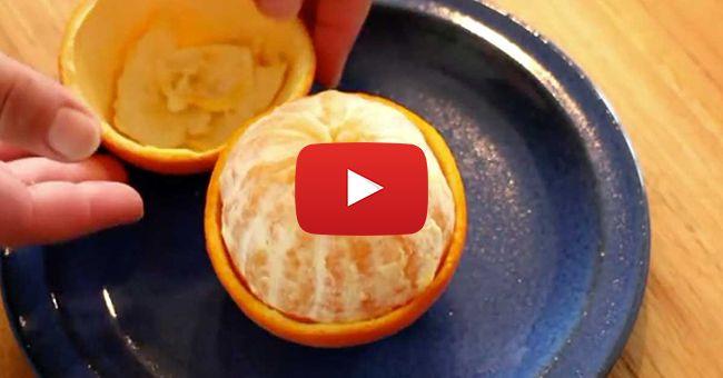Думаю, не у меня одного есть большая проблема с тем, чтобы почистить апельсин. Сок брызжет в разные стороны, попадает в глаза, просачивается под ногти.  Сегодня я покажу несколько крутых способов очистки апельсина, 3 Лайфхака, которые изменят вашу жизнь.  Выглядит круто, делается просто!