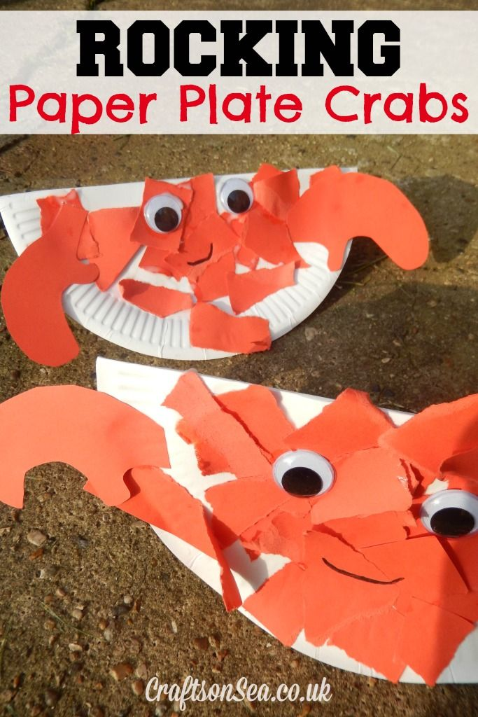 Rocking Paper Plate Crab - Crafts on Sea
