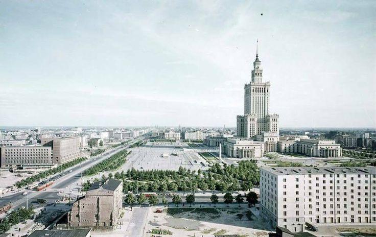 Warszawa - centrum miasta, fot. Z. Siemaszko (1962)