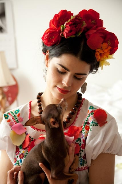 My beautiful friend Gloria Bernal channelling the spirit of Frida Kahlo for Brenda Spielmann's 'In all of us.'