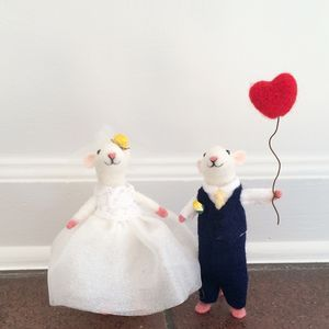 Bespoke Mice Wedding Cake Toppers - AMAZING