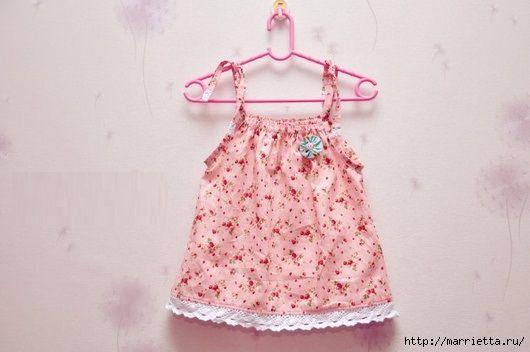 Vestido de verano para niñas.  Patrón (1) (530x352, 103Kb)