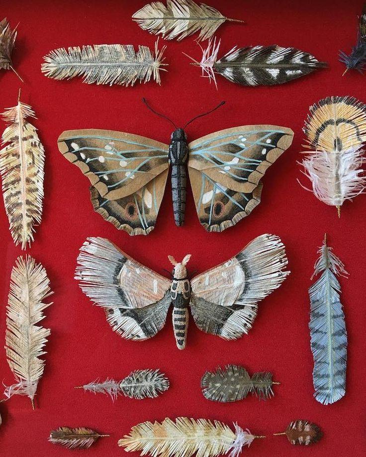 Потрясающие произведения искусства из бумаги Натуралистическая образцов бумаги Исполнитель: Woodlucker