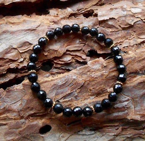 The Calm Protection Bracelet #crystals #jewelry #assecories #design #shop #blackopal #gold #fashion #power #love #natural #handmade #quality #copenhagen