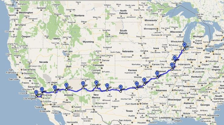 Incepted In 1926 Route 66 Crosses America Through 8 States Giving: Map Of America Route 66 At Codeve.org