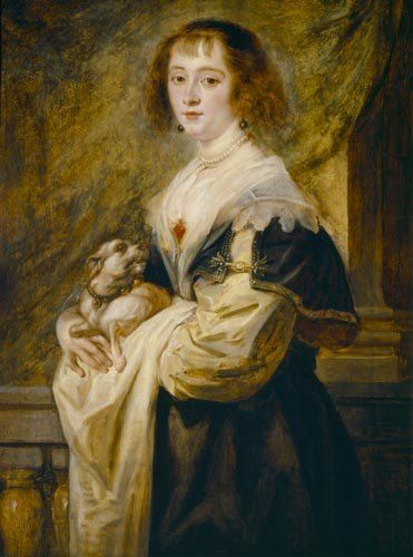 Peter Paul Rubens Women | Bild: Peter Paul Rubens - Bildnis einer Dame mit einem kleinen Hund.