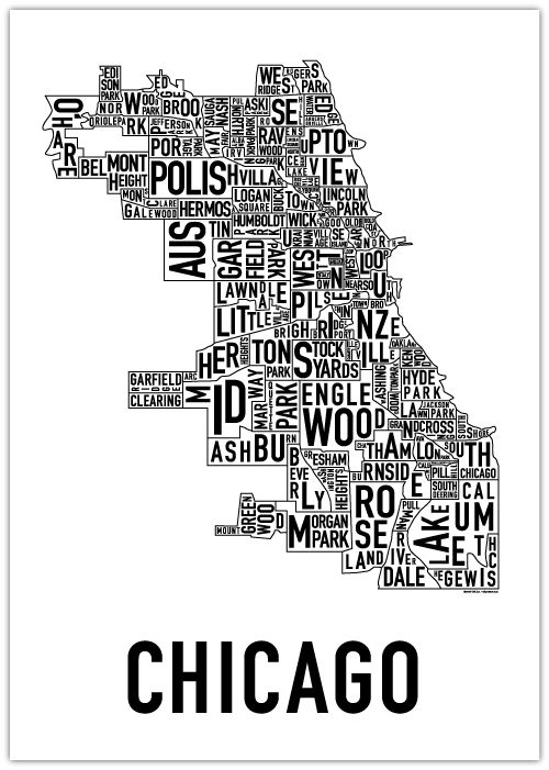 This artist makes cool posters of city maps using typography. I saw her work at the Renegade Craft Fair in London recently.