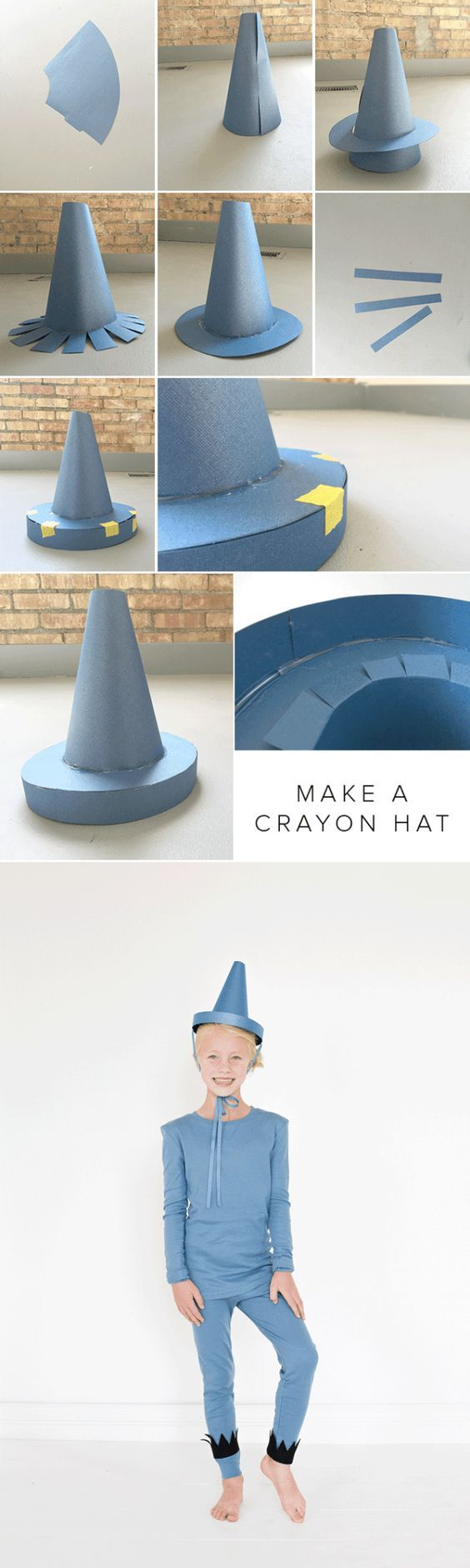The Day the Crayons Quit crayon hat tutorial